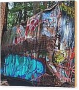 Gaffiti In The Candian Forest Wood Print