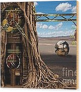 Gagilus Time Dream Wood Print by Franziskus Pfleghart