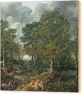 Gainsboroughs Forest Cornard Wood, C.1748 Oil On Canvas Wood Print