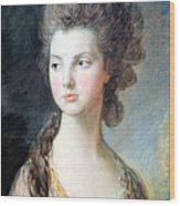 Gainsborough's The Hon. Mrs. Thomas Graham Up Close Wood Print