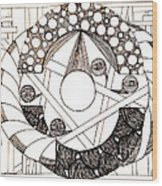 Galactic Wood Print
