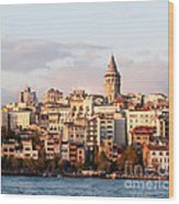 Galata Skyline 01 Wood Print by Rick Piper Photography