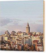 Galata Skyline 02 Wood Print
