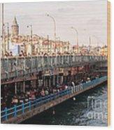 Galata Skyline And Bridge 02 Wood Print