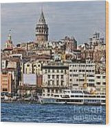 Galata Tower 03 Wood Print