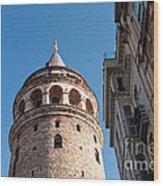 Galata Tower 03 Wood Print