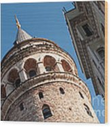 Galata Tower 04 Wood Print