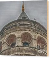 Galata Tower Istanbul Wood Print by Antony McAulay