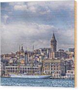Galata Tower Istanbul Wood Print