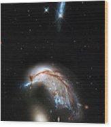 Galaxies Collide  Wood Print