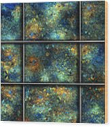 Galaxies II Wood Print by Betsy Knapp