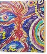 Galaxy Dancer Wood Print