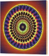 Galaxy Spotlight Kaleidoscope Wood Print