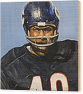 Gale Sayers Wood Print by Michael  Pattison