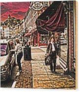 Galena Illinois Happy Shopper Wood Print