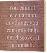 Galileo Quote Science Astronomy Math Physics Inspirational Words On Canvas Wood Print