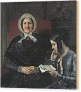 Gallait, Louis 1810-1887. The Mother Wood Print