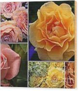 Beautiful Roses- A Collage Wood Print
