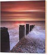Galley Hill Sunrise Wood Print by Mark Leader