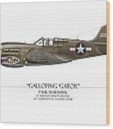 Galloping Gator P-40k Warhawk Wood Print