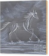 Galloping Horse Wood Print