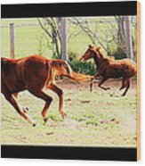 Galloping Horses Wood Print by Arie Arik Chen