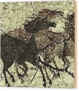Galloping Horses Wood Print