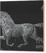 Galloping Through The Universe Wood Print by John Stephens