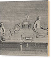 Galvani Experimented With  Static Wood Print