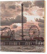 Galveston Island Morning Wood Print
