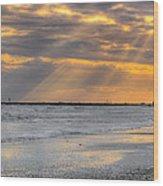 Galveston Rays Of Sunshine Wood Print
