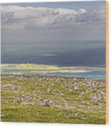 Galway Bay From Abbey Hill  Wood Print by Michael David Murphy