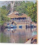 Gambian Fishing Village Wood Print
