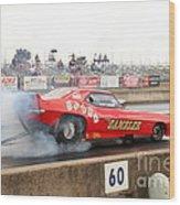 Gambler Burns The Track Wood Print