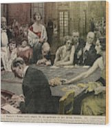 Gamblers At The Tables -  A Winner Wood Print