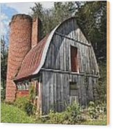 Gambrel-roofed Barn Wood Print