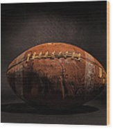 Game Ball Wood Print by Peter Tellone