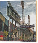 Game Day - Fenway Park Wood Print