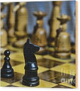 Game Of Chess Wood Print