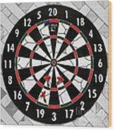 Game Of Darts Anyone? Wood Print by Kaye Menner