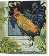 Gamecock And Hen Wood Print