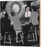 Gaming Tables Interior Binion's Horseshoe Casino Las Vegas Nevada 1979-2014 Wood Print
