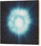 Gamma-ray Burst In Space Wood Print