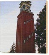 Gananoque Clock Tower Wood Print