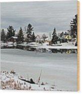 Gananoque River In Winter 4 Wood Print
