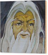 Gandalf Headstudy Wood Print by Patricia Howitt