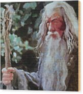 Gandalf The Grey Not Moses Mom Wood Print