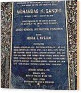 Gandhi Plaque Wood Print