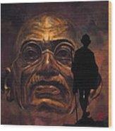 Gandhi - The Walk Wood Print