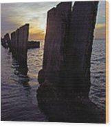 Gandy Wall At Sunset IIi Wood Print